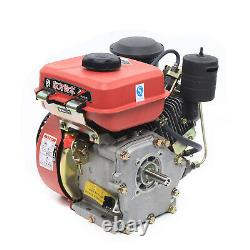 6HP 4-Stroke Diesel Engine Single Cylinder Vertical Engine Motor 53mm Shaft 0.7L
