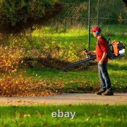 80CC 2 Stroke Gas Backpack Leaf Blower Powered Debris Padded Harness EPA 850 CFM
