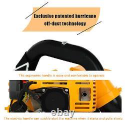 80CC 2-Stroke Motor Gassoline Backpack Leaf Blower Powered 850 CFM USA