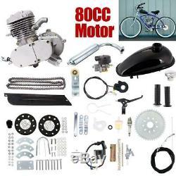 80cc Bike Bicycle Motorized Single Cylinder 2 Stroke Petrol Gas Motor Engine Kit