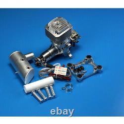 85CC DLE85 Gas Engine Single Cylinder Two Stroke Side Exhaust For RC Airplane