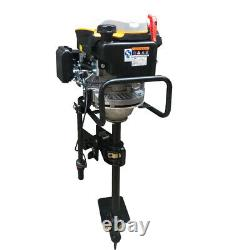 8HP 4Stroke Vertical Axis-Single Cylinder Outboard Motor Boat Engine Air Cooling