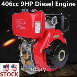 9HP 4 Stroke Diesel Engine 406cc Single Cylinder 72.2mm Shaft Length 3600rpm Top