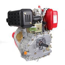 9HP 406CC Diesel Engine 4 Stroke Single Cylinder 2-5/6 Shaft Recoil Engine USA