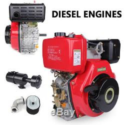 9HP 406cc Diesel Engine 4 Stroke Single Cylinder +2-5/6 Shaft Length Machine US
