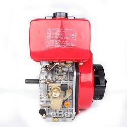 9HP 406cc Diesel Engine 4 Stroke Single Cylinder +72.2mm Shaft Length Machine