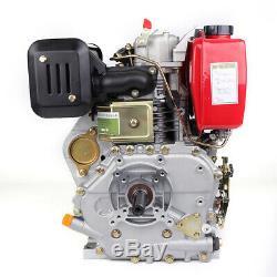 9HP Diesel Engine 406cc Vertical 4 Stroke Single Cylinder 72.2mm Shaft 4 Bolt