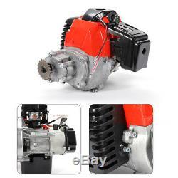 Air-Cooled 49cc Engine Single Cylinder 2-Stroke Fit For Pocket Bike Aluminum USA