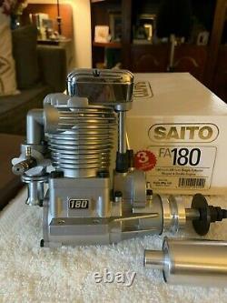 BNIB SAITO FA 180 Radio Control SINGLE CYLINDER RINGED 4 STROKE AIRPLANE Engine