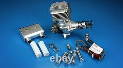 DLE55RA 55CC New Model Gasoline Engine Back Exhaust Single Cylinder Two Strokes