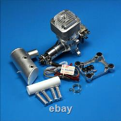 DLE85 85CC Gas Engine Single Cylinder Two Stroke Side Exhaust For RC Airplane