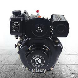 Diesel Engine 4-Stroke 247CCVertical Single Cylinder Hand Start Air-cooled Motor