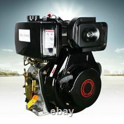 Diesel Engine 406cc 10HP 4 Stroke Single Cylinder 6.3KW 72.2mm Shaft Length Best