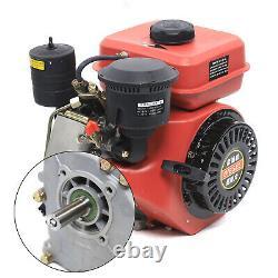 Diesel Engine Single Cylinder 4-Stroke 6HP 196cc Shaft Length 53mm US STOCK