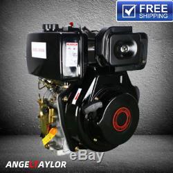 Diesel Engine Single Cylinder 4 Stroke 9HP 406cc Shaft Length 72.2mm US Stock