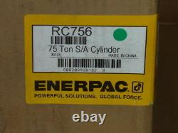 ENERPAC RC-756 Single Acting 75 TON Cylinder Alloy Steel 6.13 STROKE RC756 NEW