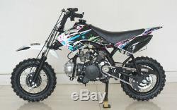 Fully Auto Gas Power Single Cylinder 4-Stroke 70cc Dirt Bike Kick Start 4-Speed