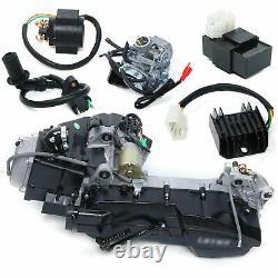 GY6 Single Cylinder 4-Stroke Complete Engine 150CC Scooter ATV Go Kart Motor CVT