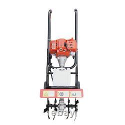 Hand Push Soil Micro Tiller 52cc 2Stroke Single Cylinder Petrol Mini Farm Tiller
