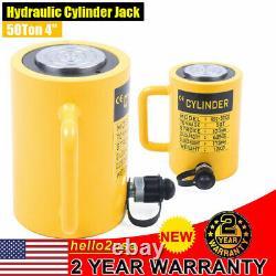 Hydraulic Cylinder Jack 50-Ton 4(100mm) Stroke Single Acting Telescopic Plunger