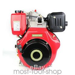 New 406cc 9HP Diesel Engine 4 Stroke Single Cylinder 2 5/6 Shaft Length 6.3KW