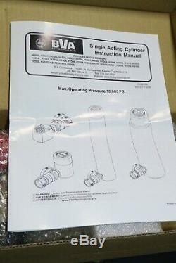 New BVA Hydraulics 10 Ton 6 Stroke Single Acting Hydraulic Cylinder
