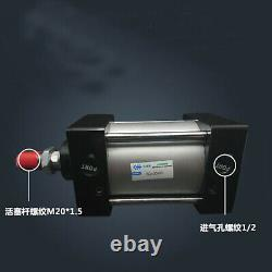 SC100-450 Bore 100mm Stroke450mm Single Thread Rod Dual Action Air Cylinder