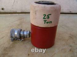 SPX Power Team 25 Ton Single Acting Hydraulic Cylinder 1 inch Stroke