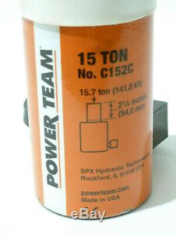 SPX Power Team C152C, 15 Ton, 2 1/8 Stroke, Single Acting Hydraulic Cylinder