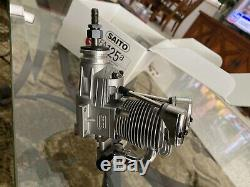 Saito 1.25 Cubic Inch20.52 cc  Single Cylinder Ringed 4-Stroke Engin
