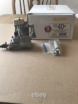 Saito FA 40 single cylinder ringed 4 stroke engine