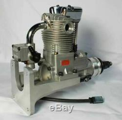 Saito FG-21 4 Stroke Single Cylinder Gasoline Engine with Mount for RC Plane