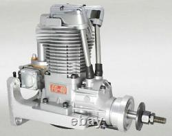Saito FG-40 4 Stroke Single Cylinder Gasoline Engine with Mount for RC Plane