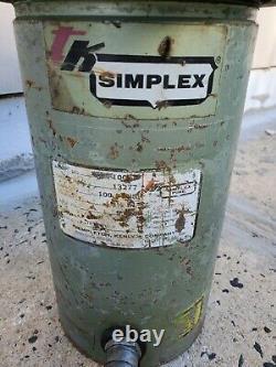 Simplex R-1006 Single Action Hydraulic cylinder 100 ton 6 inch stroke