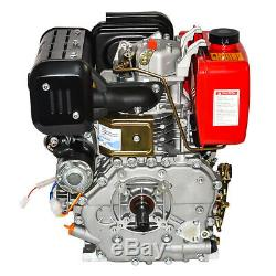 Top 411cc 10HP Diesel Engine 4 Stroke Single Cylinder 72.2mm Shaft Length