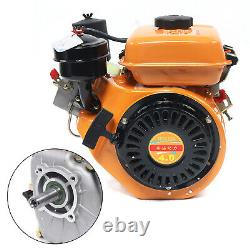 Vertical Air-Cooled Diesel Engine Single-Cylinder Hand Recoil Start 4-Stroke NEW